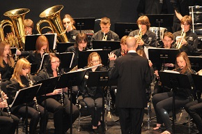 Kirk Wassmer leads the 2012 DHS Grade 9 Concert Band through a few classical pieces at the Moose Jaw Band and Choral Festival.