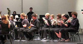 Students participating in the DHS Band Program in the 2011 Spring Concert