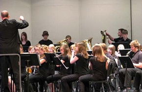 Students participating in the DHS Band Program in the 2011 Spring Concert.