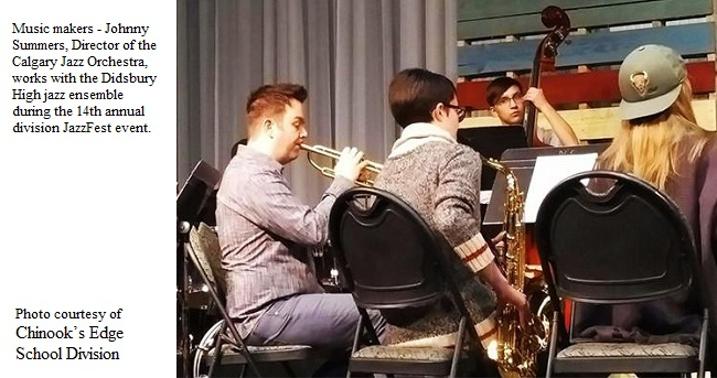 Johnny Summers works with DHS Jazz Ensemble