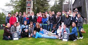 Students participating in the DHS Band Program playing at the Whistler Music Festival in 2012.